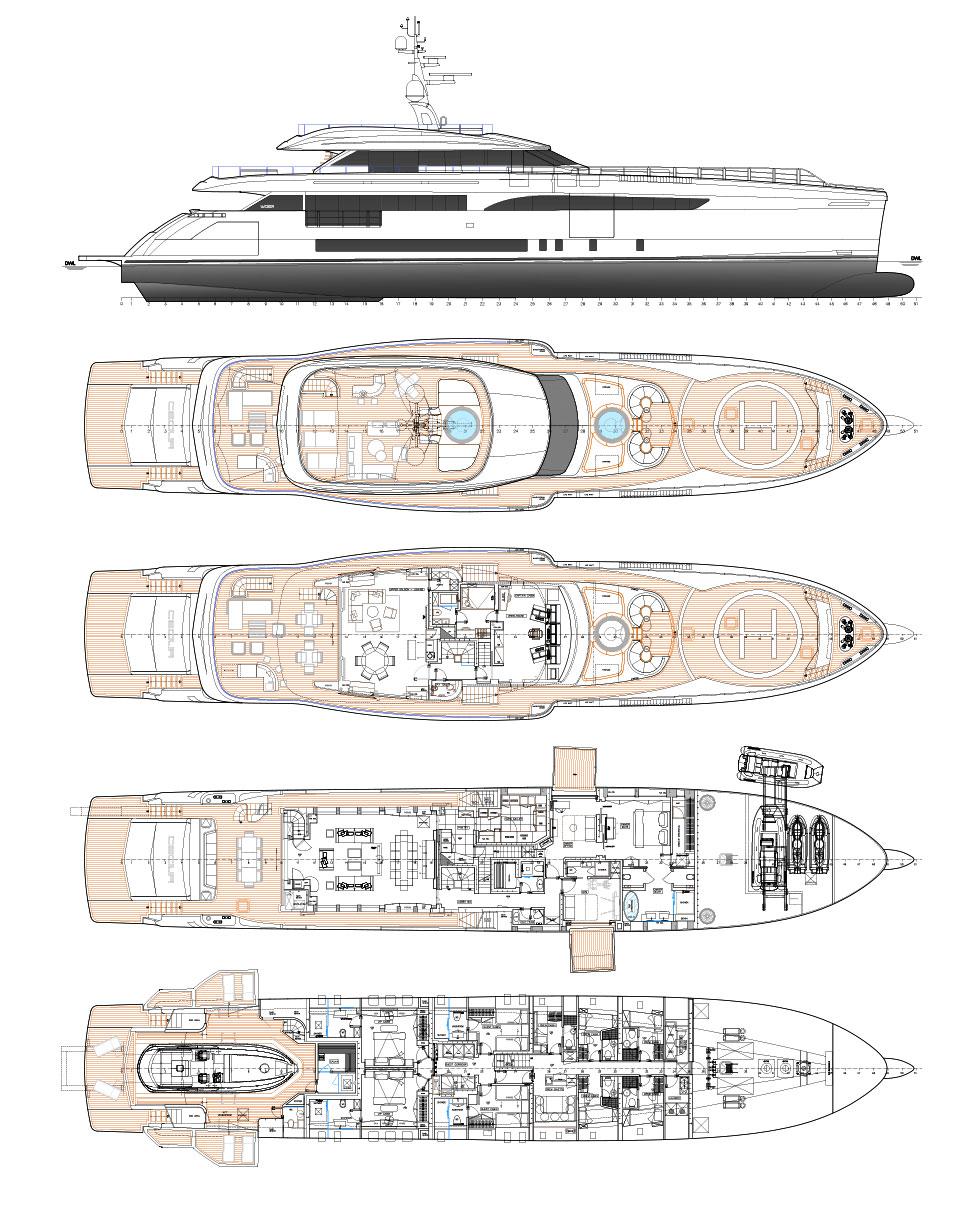 Wider 165 Deckplans Arcon Yachts
